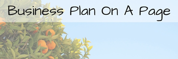 Business Plan On A Page